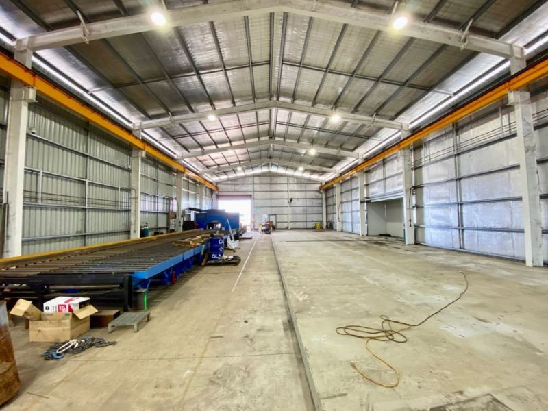 Former steel fabrication workshop with cranes - Sale or Lease