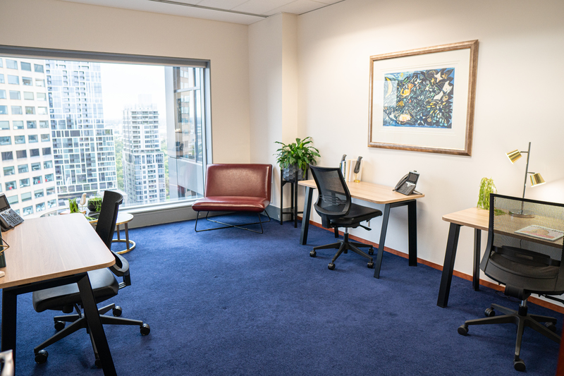 Modern 4-person office location in Melbourne's most prestigious building