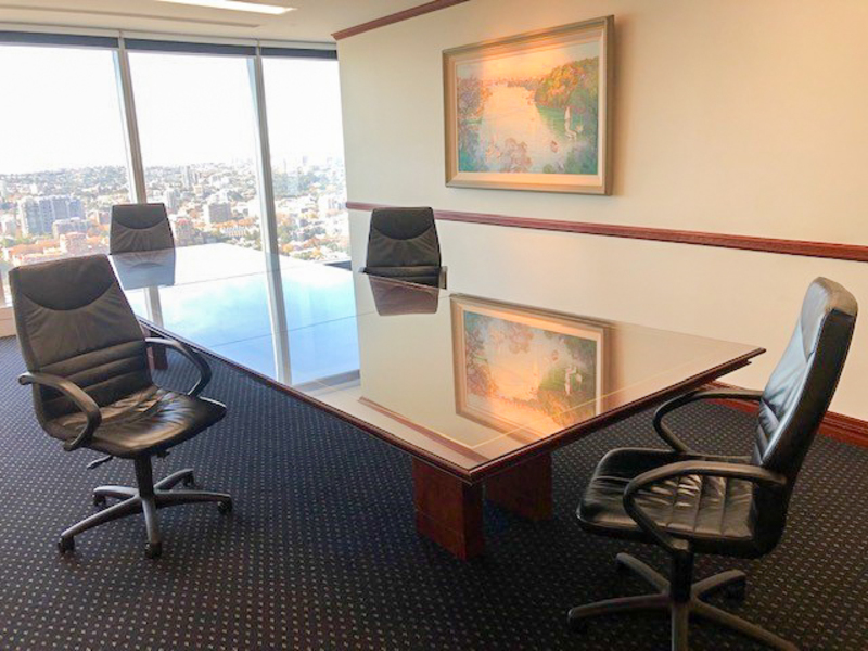 Modern 4-person collaborative workspace located in the heart of the Sydney's financial services and legal district