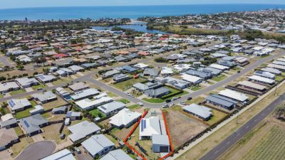 COASTAL HOME ONLY 18 MONTHS OLD ON 1,017M2 BLOCK WITH 2 LIVINGS + HUGE SHED!
