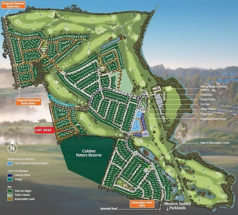 Colebee Lot 2532 Proposed Road | Stonecutters Ridge