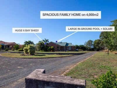 HOME WITH HUGE SHEDS and POOL - QUITE AREA ON OUTSKIRTS OF TOWN