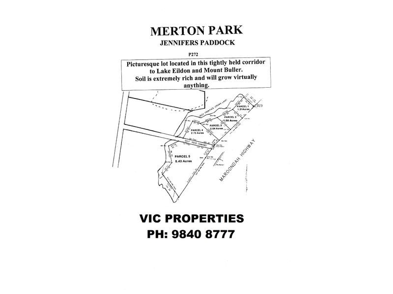Parcel 1 Maroondah Highway, Merton VIC 3715