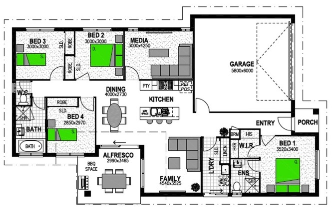LOT 1469 'BRENTWOOD FOREST' BELLBIRD PARK Floorplan