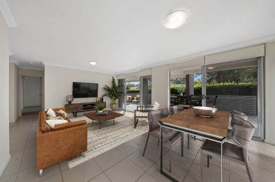 Ground Floor Unit - No Stairs.  The Largest Easterly Facing Outdoor Entertaining Area - 13m long.  Perfect for Downsizers who still love to Entertain