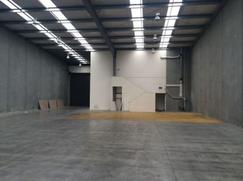 Modern warehouse with tidy office