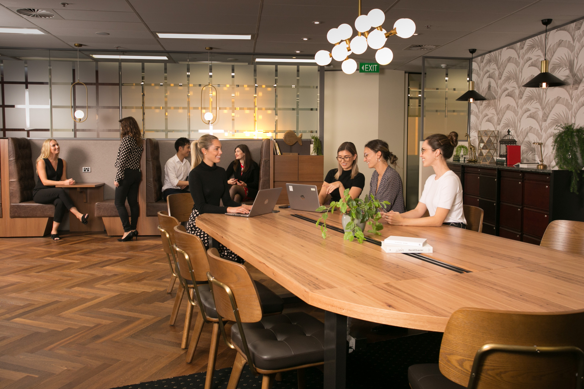 2-person collaborative workspace with sweeping views of the Sydney CBD