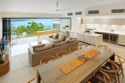 Exquisite designer home with striking outlook.