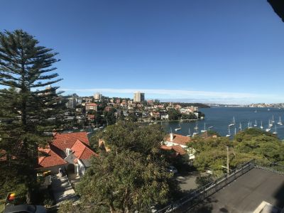 LARGE 1 BEDROOM APARTMENT WITH STUNNING HARBOUR VIEWS. FERRY RIGHT AT YOUR DOOR. FRESHLY PAINTED WITH NEW CARPET & BLINDS.