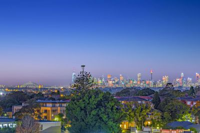 Luxury apartment with stunning city skyline views