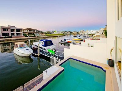 North Facing Waterfront Duplex with Pool and Pontoon!