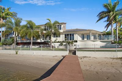 One of the most outstanding north facing stunning homes on water in Mermaid Waters  Large Land Size of 967sqm
